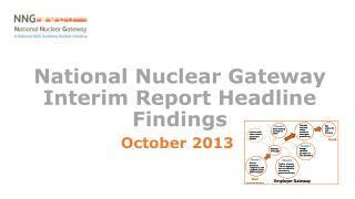 National Nuclear Gateway Interim Report Headline Findings