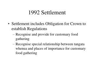 1992 Settlement