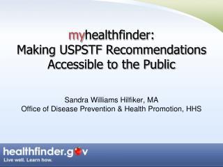 Redesigned healthfinder