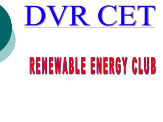 RENEWABLE ENERGY CLUB