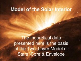 Model of the Solar Interior
