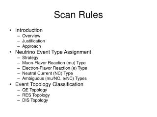Scan Rules