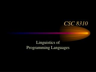 CSC 8310