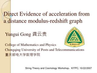 Direct Evidence of acceleration from a distance modulus- redshift  graph