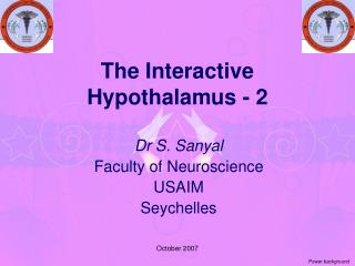 The Interactive Hypothalamus - 2