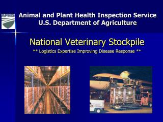 Animal and Plant Health Inspection Service U.S. Department of Agriculture