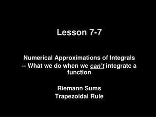 Lesson 7-7