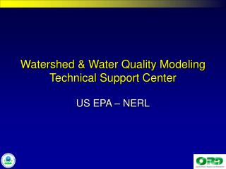 Watershed & Water Quality Modeling Technical Support Center