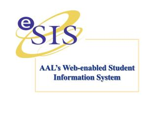 AAL's Web-enabled Student Information System