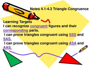 Notes 4.1-4.3 Triangle Congruence