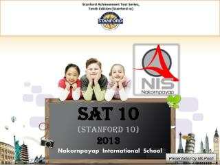 SAT 10 (Stanford 10) 2013