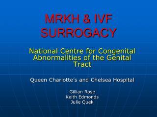 MRKH & IVF SURROGACY