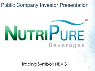 Public Company Investor Presentation