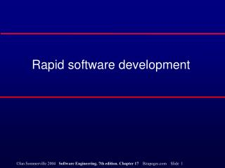 Rapid software development