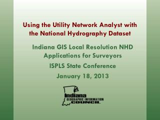 Using the Utility Network Analyst with the National Hydrography Dataset