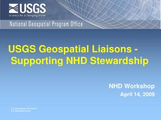 USGS Geospatial Liaisons -  Supporting NHD Stewardship
