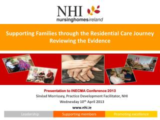 Supporting  Families through the Residential  Care Journey  Reviewing the Evidence