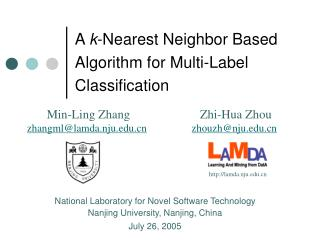 A  k -Nearest Neighbor Based Algorithm for Multi-Label Classification