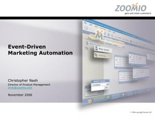Event-Driven  Marketing Automation