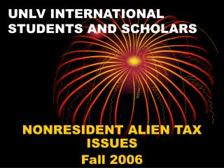 UNLV INTERNATIONAL STUDENTS AND SCHOLARS