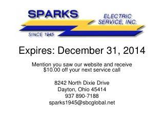 Expires: December 31, 2014