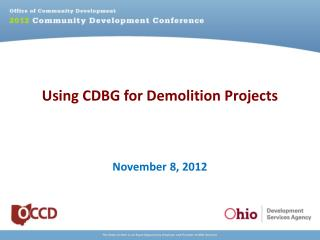 Using CDBG for Demolition Projects