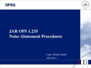 JAR OPS 1.235 Noise Abatement Procedures