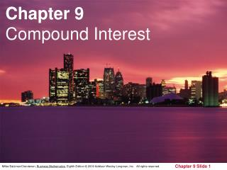Chapter 9 Compound Interest