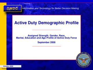 Active Duty Demographic Profile