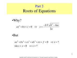 Part 2  Roots of Equations