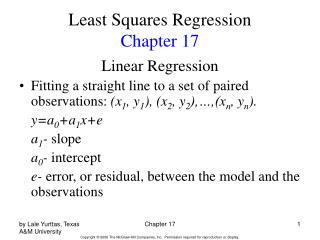 Least Squares Regression Chapter 17