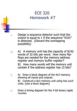 ECE 320   Homework #7