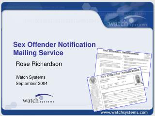 Sex Offender Notification Mailing Service