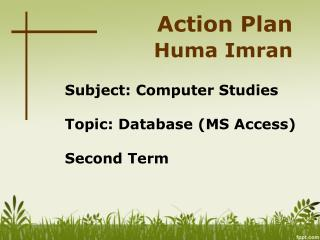 Action Plan Huma Imran