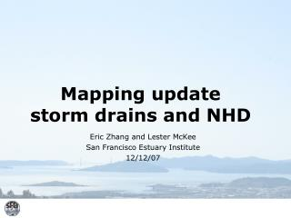 Mapping update  storm drains and NHD