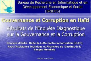 Gouvernance et Corruption en Ha ti