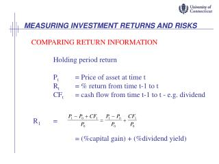 MEASURING INVESTMENT RETURNS AND RISKS