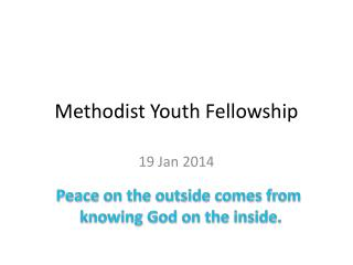 Methodist Youth Fellowship