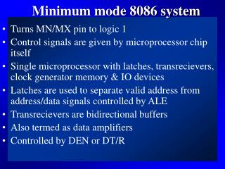 Minimum mode 8086 system