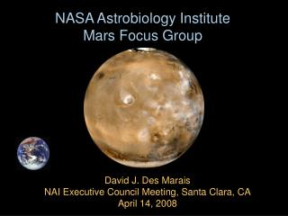 NASA Astrobiology Institute  Mars Focus Group