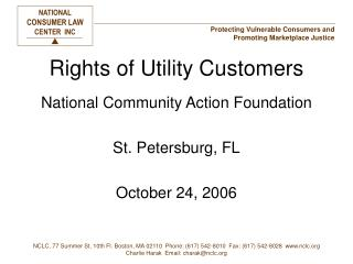 Rights of Utility Customers