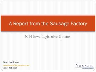 A Report from the Sausage Factory