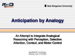Anticipation by Analogy