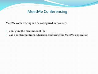 MeetMe Conferencing