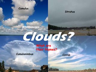 What causes Clouds?