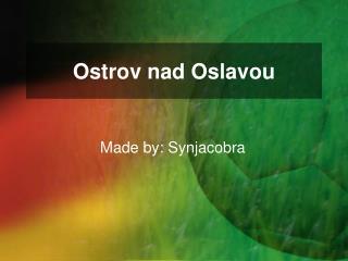 Ostrov nad Oslavou