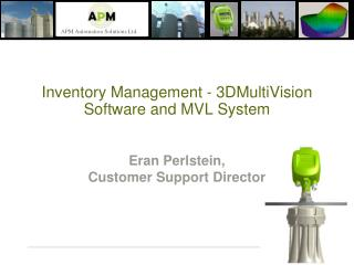 Inventory Management - 3DMultiVision Software and MVL System