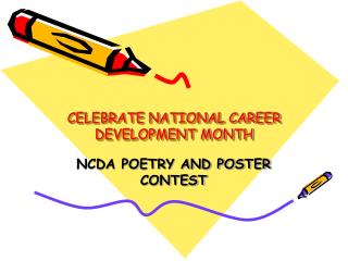 CELEBRATE NATIONAL CAREER DEVELOPMENT MONTH