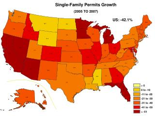 Single-Family Permits Growth  (2005 TO 2007)