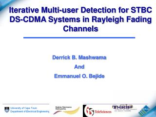 Iterative Multi-user Detection for STBC DS-CDMA Systems in Rayleigh Fading Channels